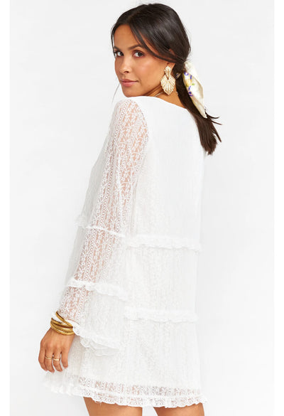 Mansfield Mini Dress-Rodeo Floral Lace White
