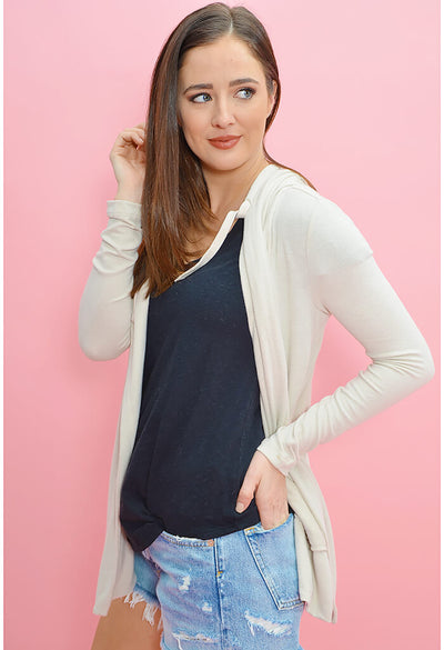 The Sweater Knit Cardigan-Sandshell