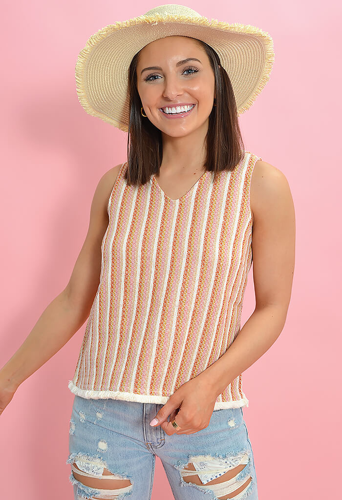 Sun Glow Tweed Top