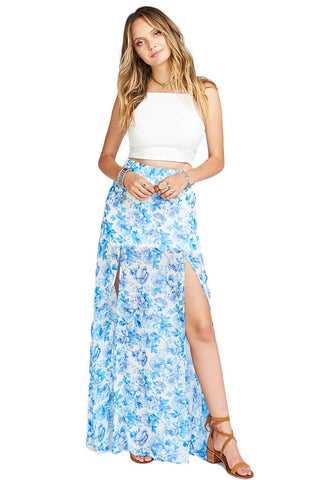 Mick Double Slit Skirt - Mama Blues