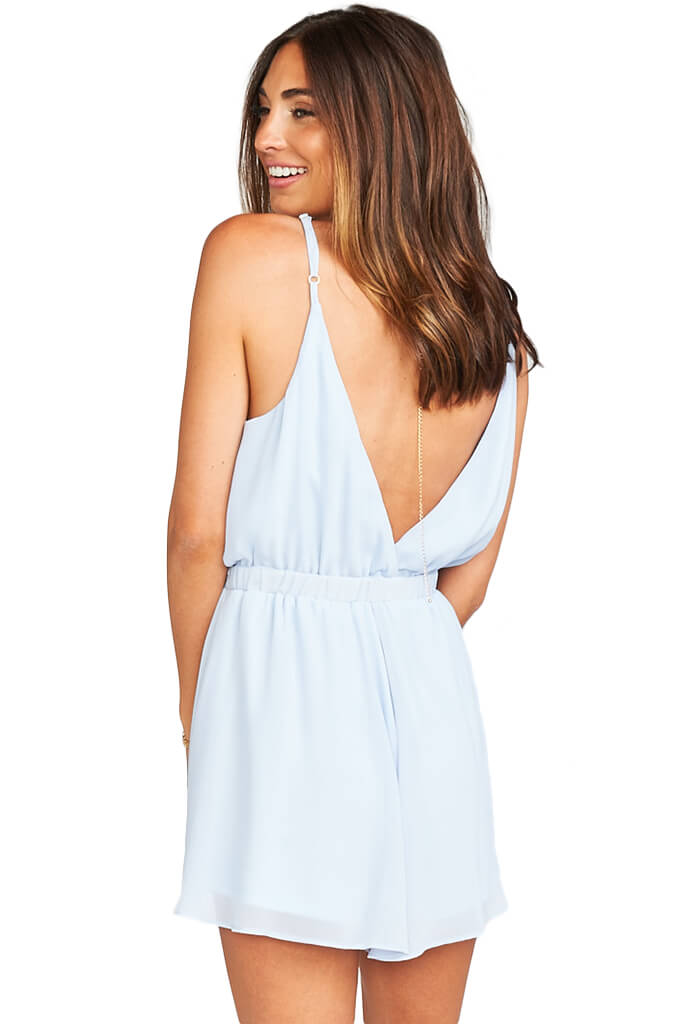 Olympia Romper - Periwinkle Chiffon