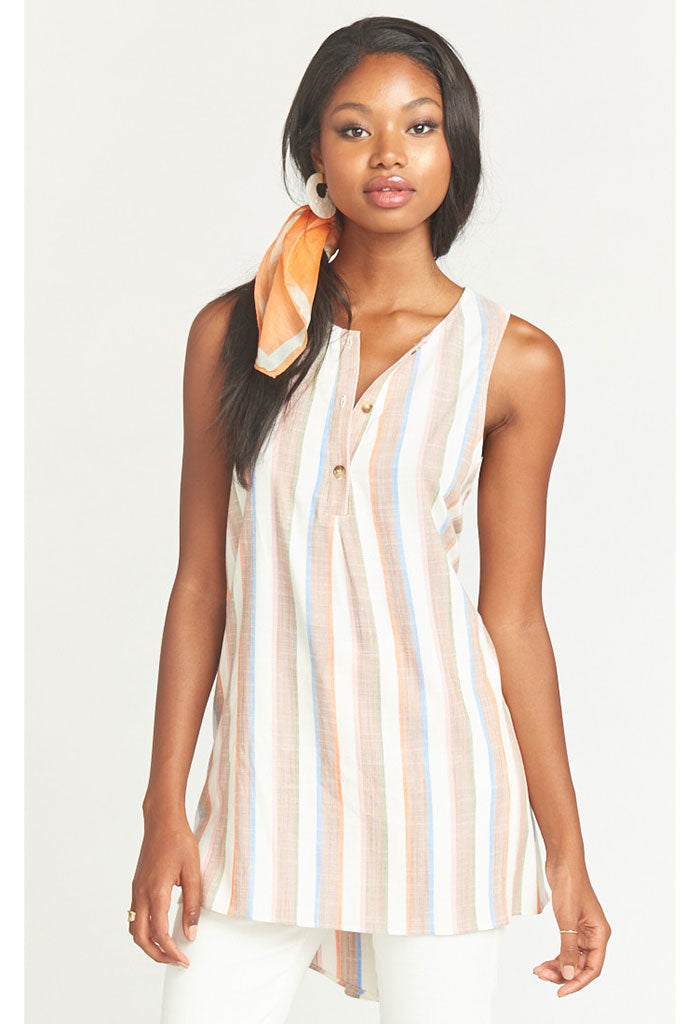 Tawny Tunic Tank ~ Shorebert Stripe