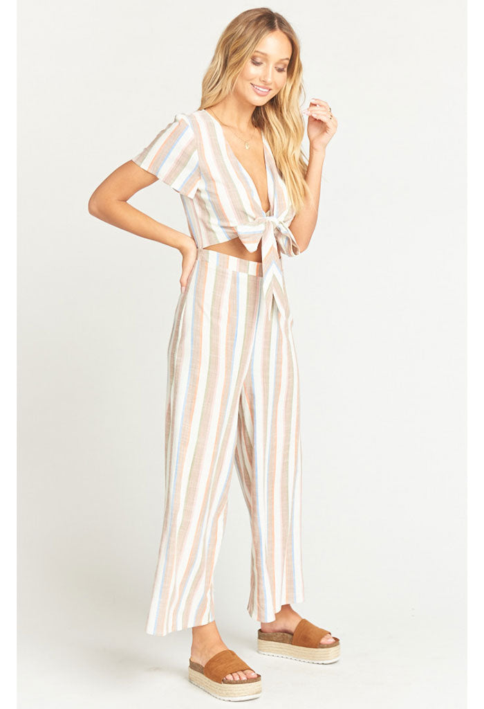 Val Jumpsuit ~ Shorebert Stripe