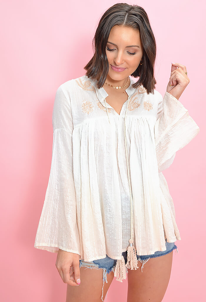 Beach Peach Blouse
