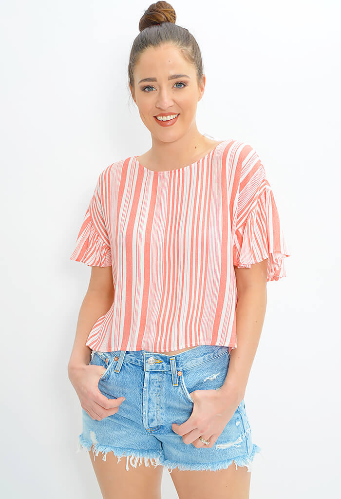 Oceanside Stripe Top