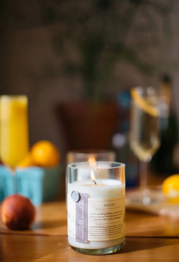 Rewined Bellini Candle