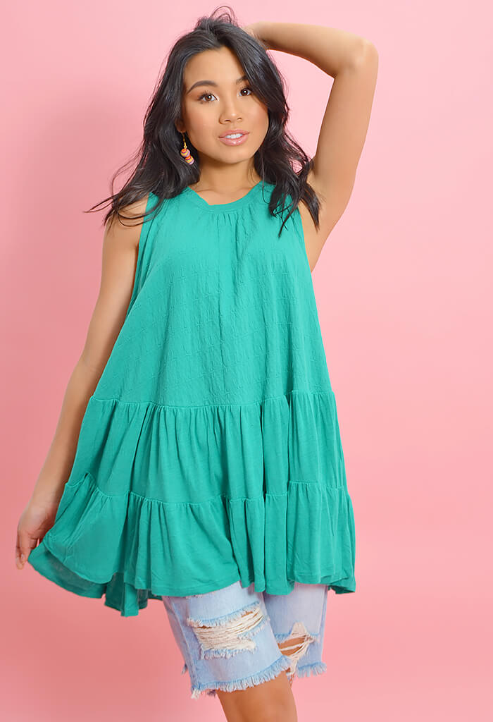 Right on Time Tunic-Green