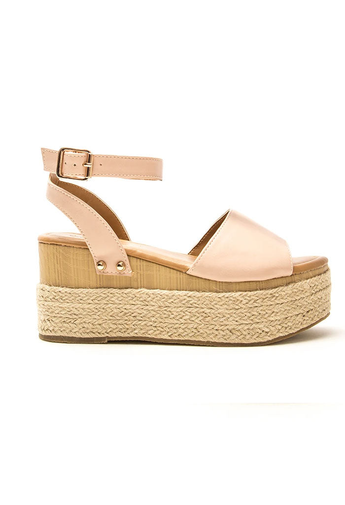 Feora Blush Wedge Sandals