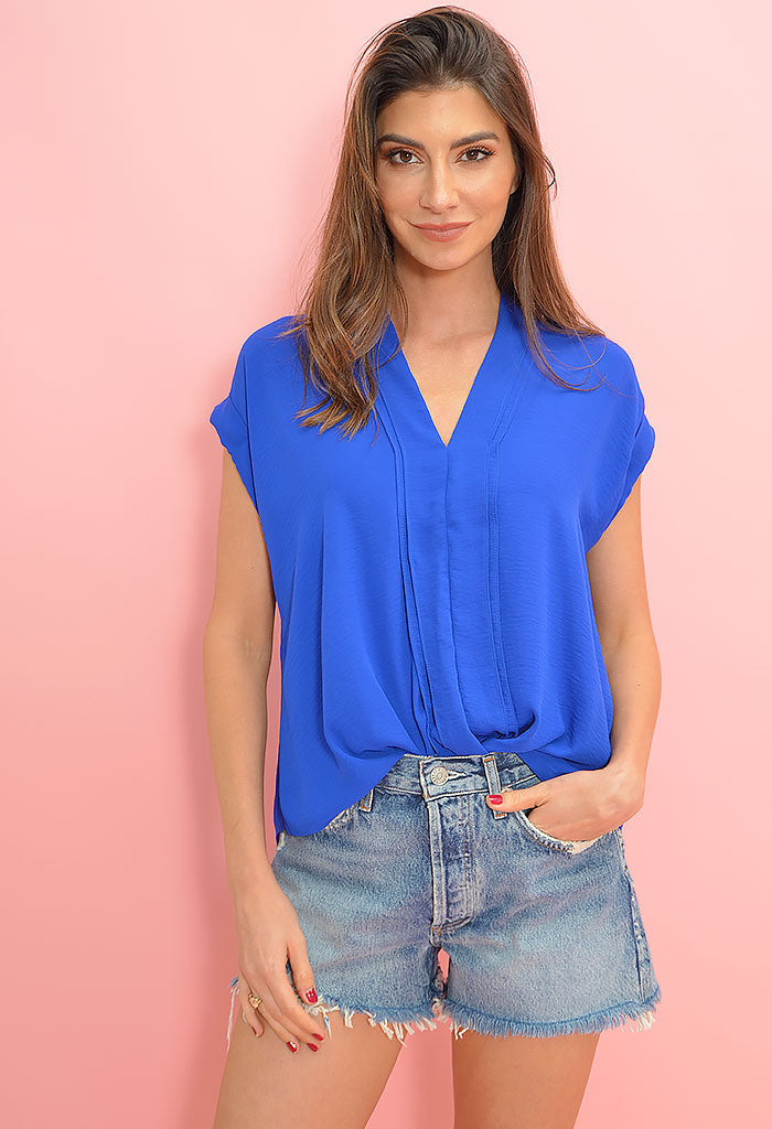 Color Pop Top-Cobalt