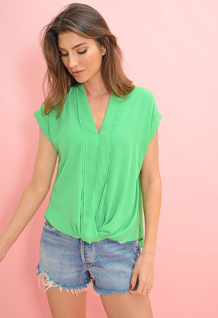 Color Pop Top-Green