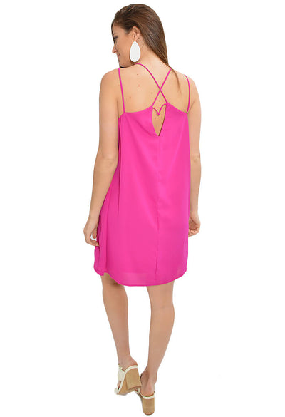 Sweet Tart Dress - Magenta- KK Bloom Boutique