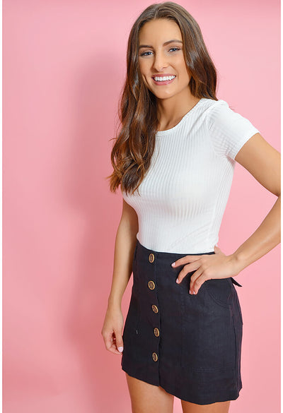 Trail Blazer Button Front Utility Skirt