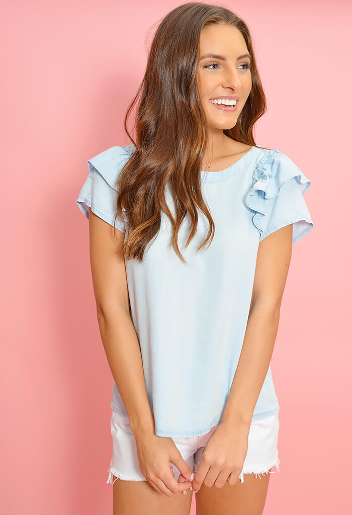Sweetness & Light Washed Out Chambray