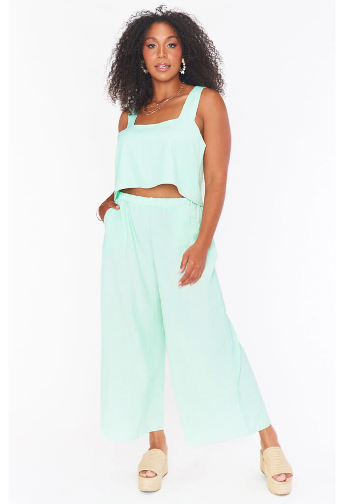 Show Me Your Mumu Kick Back Pants-Green Melon