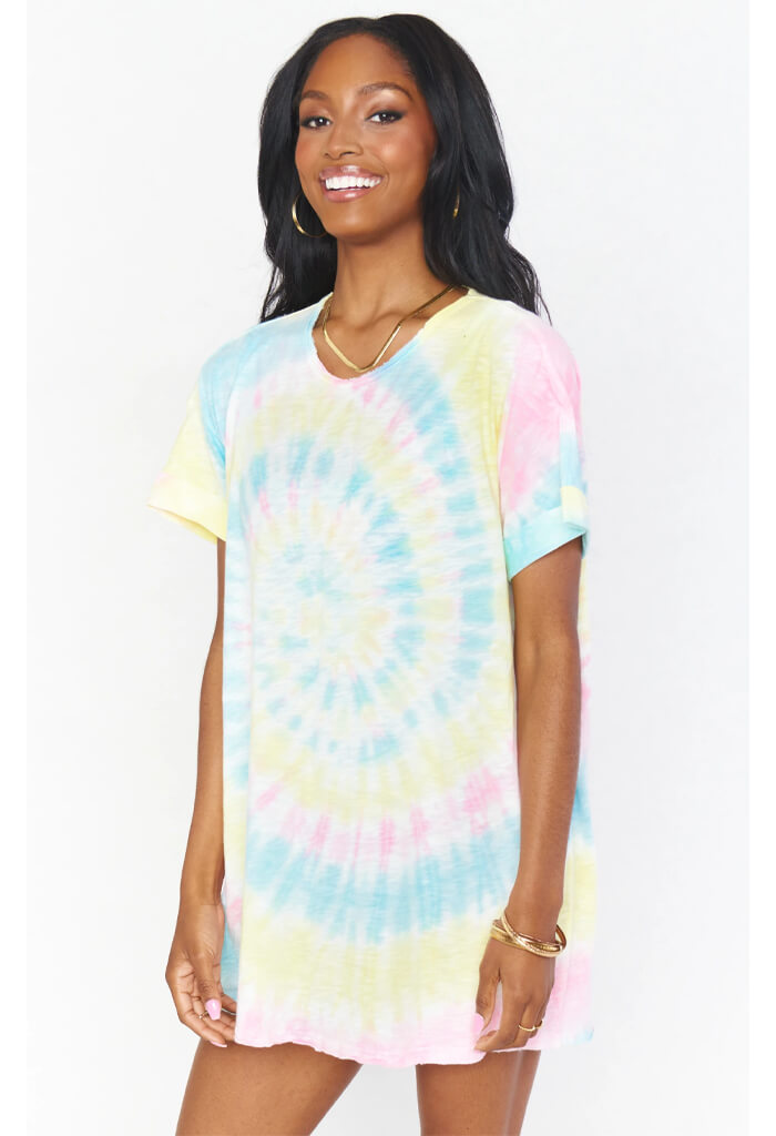 Show Me Your Mumu Dylan T-Shirt Dress-Rainbow Tie Dye