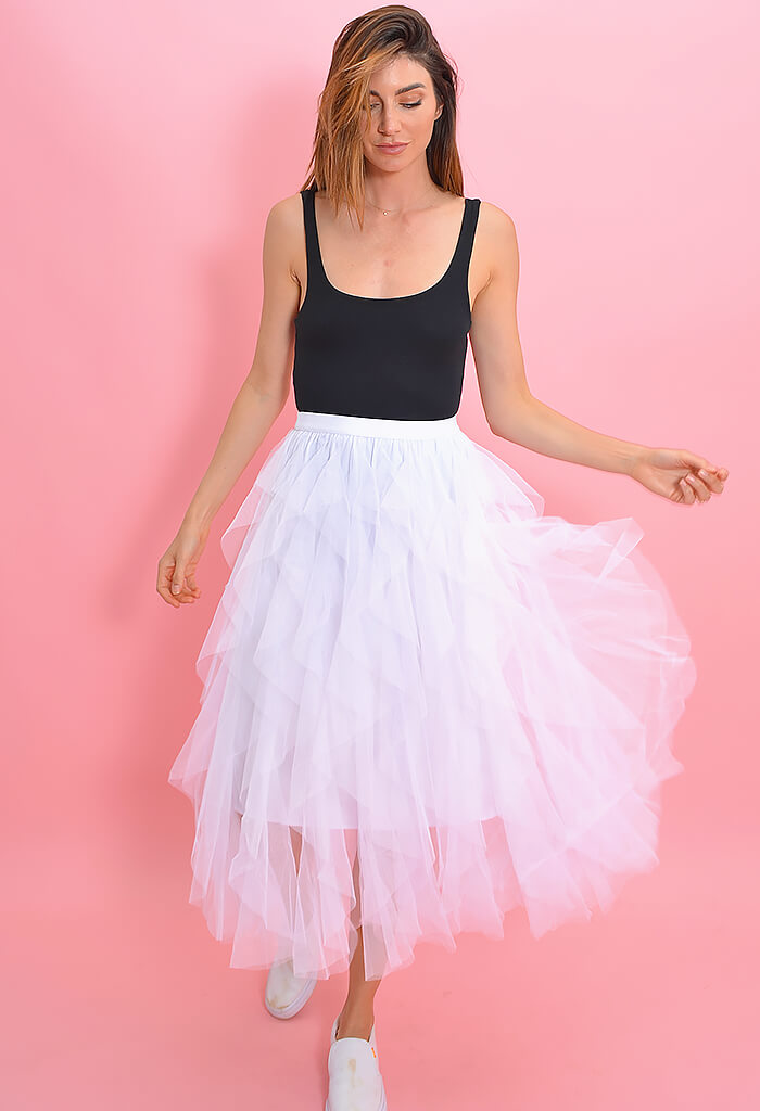 KK Bloom Swan Lake Midi Skirt