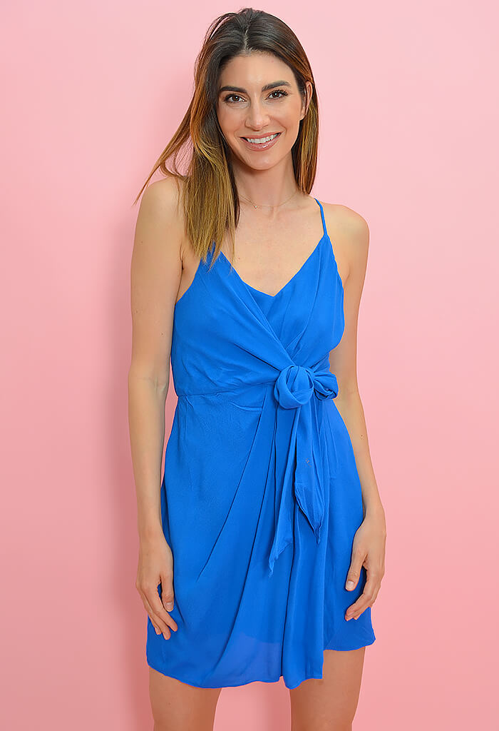 KK Bloom St. Barts Mini Dress-Blue