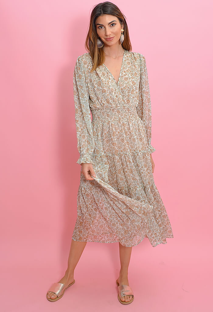 KK Bloom Golden Hour Midi Dress