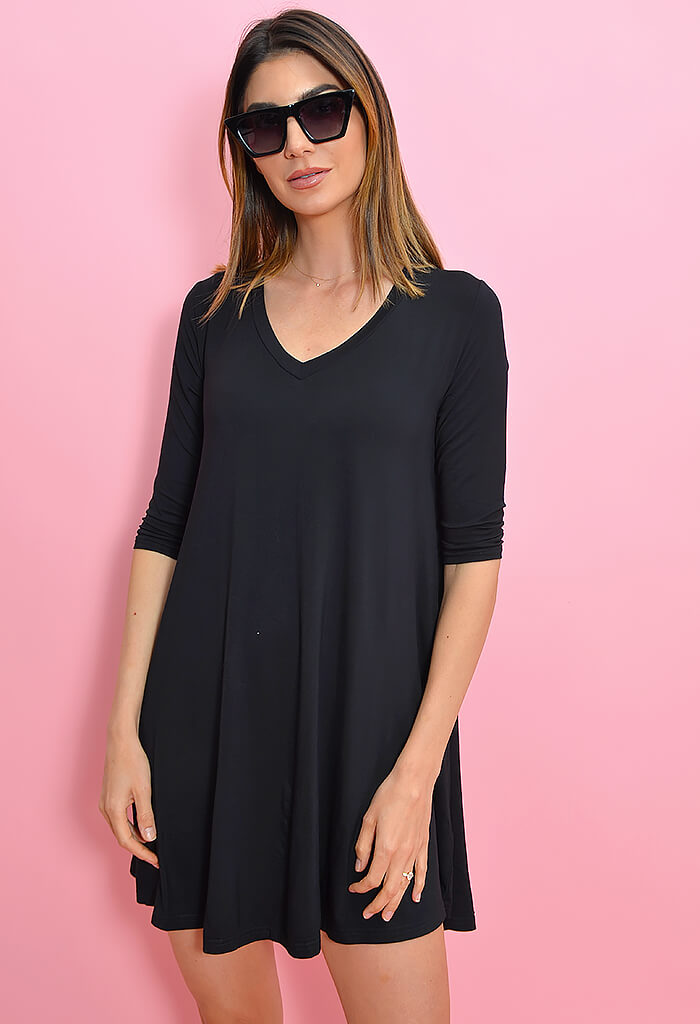 KK Bloom Sarah Tee Dress in Black