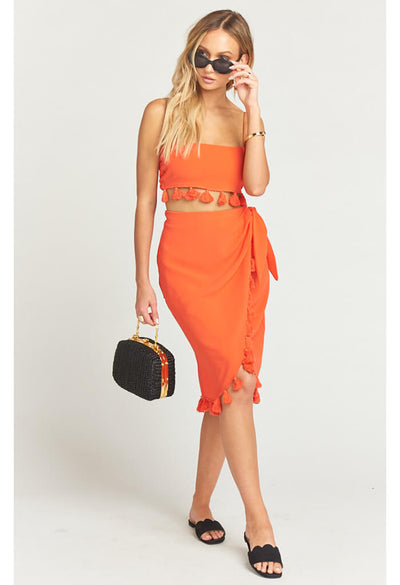 Anjolie Wrap Skirt with Tassels-Bellini