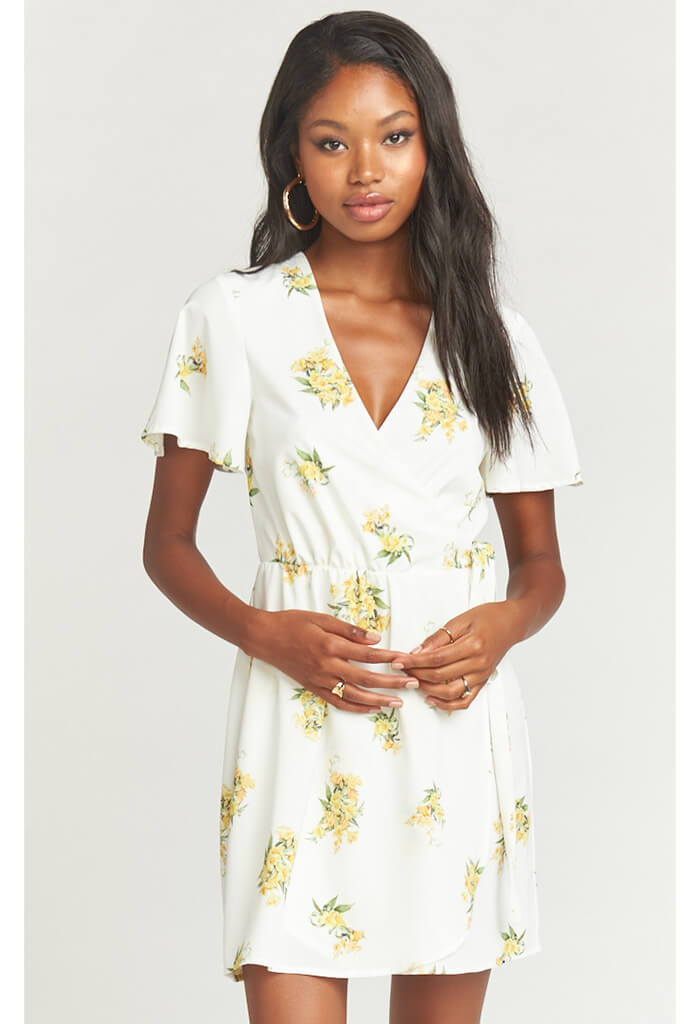 Andrea Wrap Dress-Sunny Side Floral