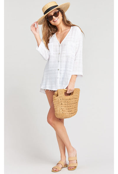 The Dahli Tunic-Sand Dollar Gauze
