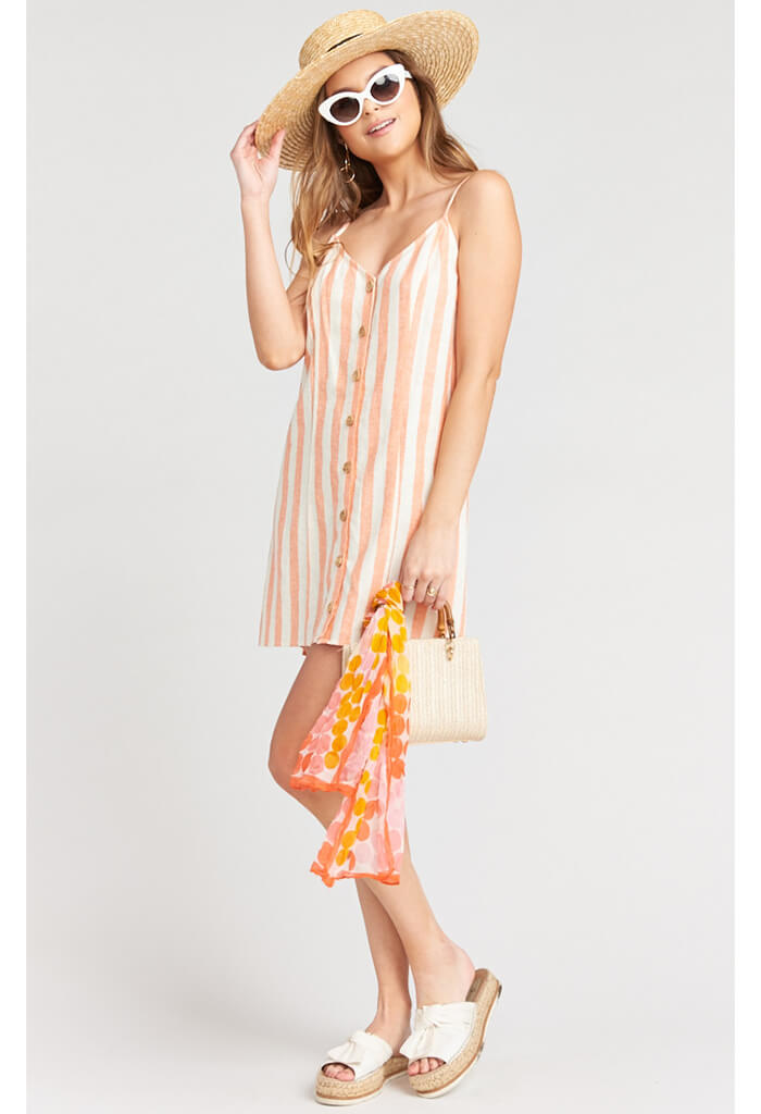 Remington Dress-Dreamsicle Stripe Linen