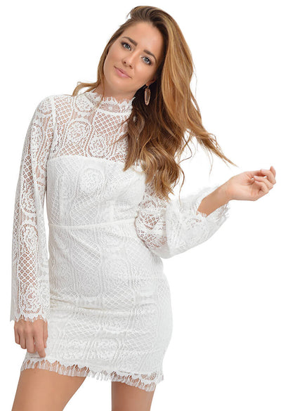 Sugar Lips Gardenia Lace Dress-front