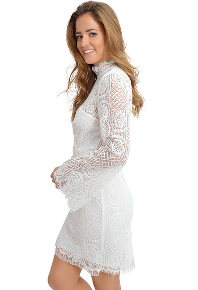 Sugar Lips Gardenia Lace Dress-side
