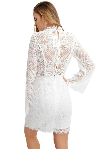 Sugar Lips Gardenia Lace Dress-back