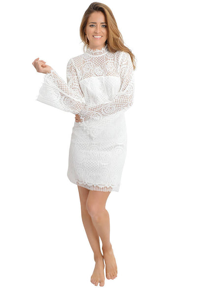 Sugar Lips Gardenia Lace Dress-full length