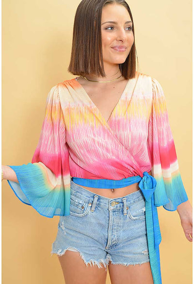 Sunrise Wrap Blouse