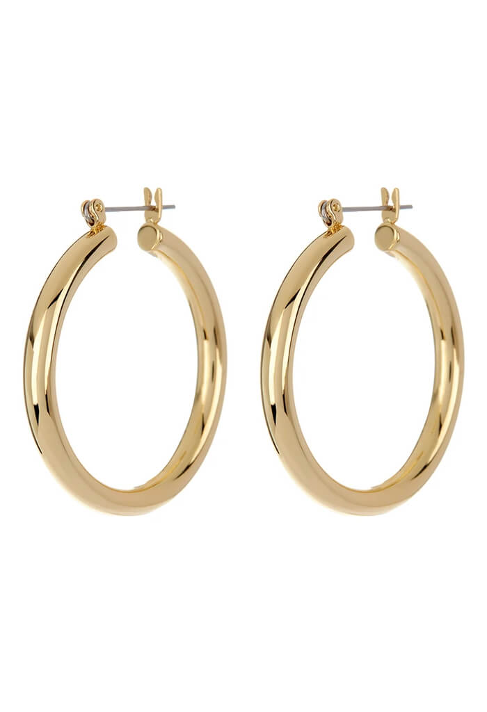 LUV AJ Chiara Tube Hoops-Gold
