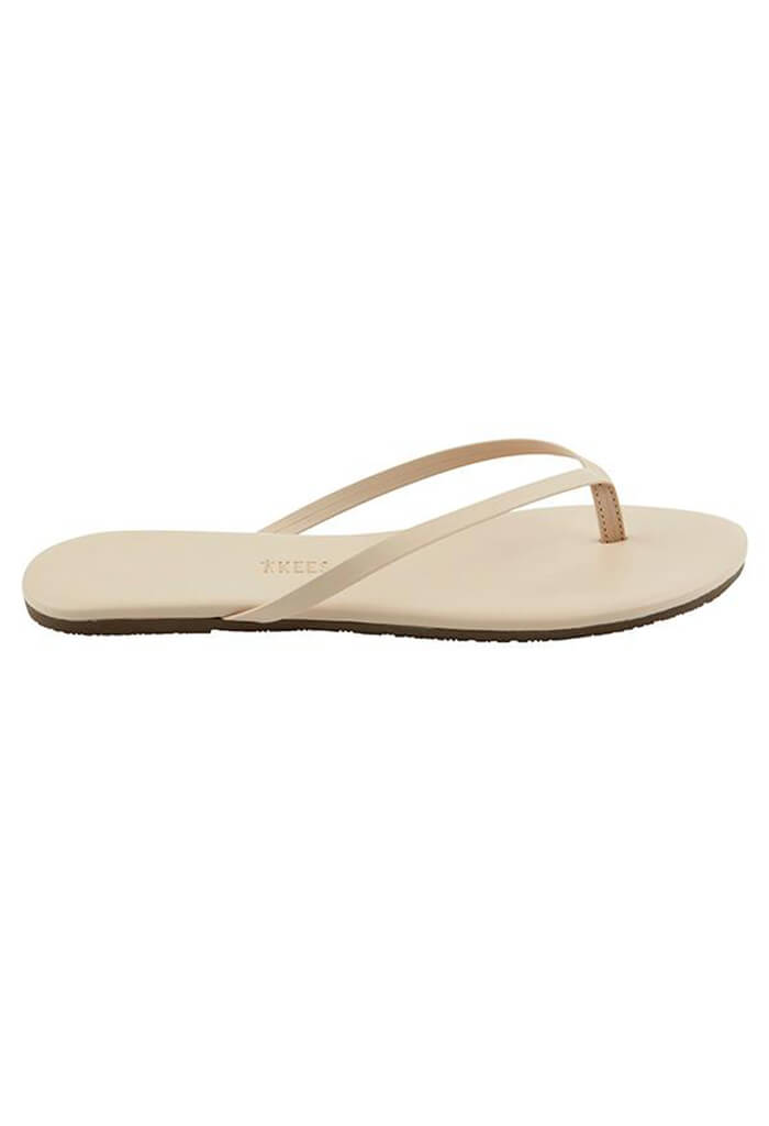 Foundation Leather Flip Flops-Seashell