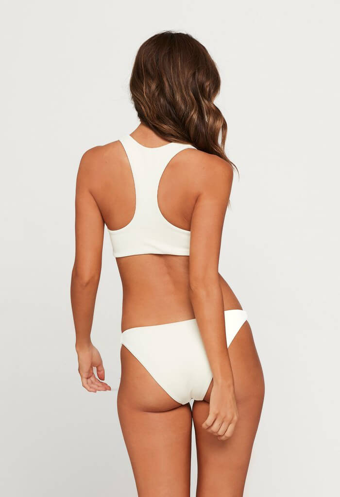 Ribbed Camacho Bikini Bottom-Cream
