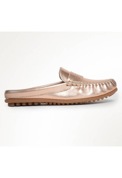 Minnetonka Moccasin Kate Mule in Rose Gold