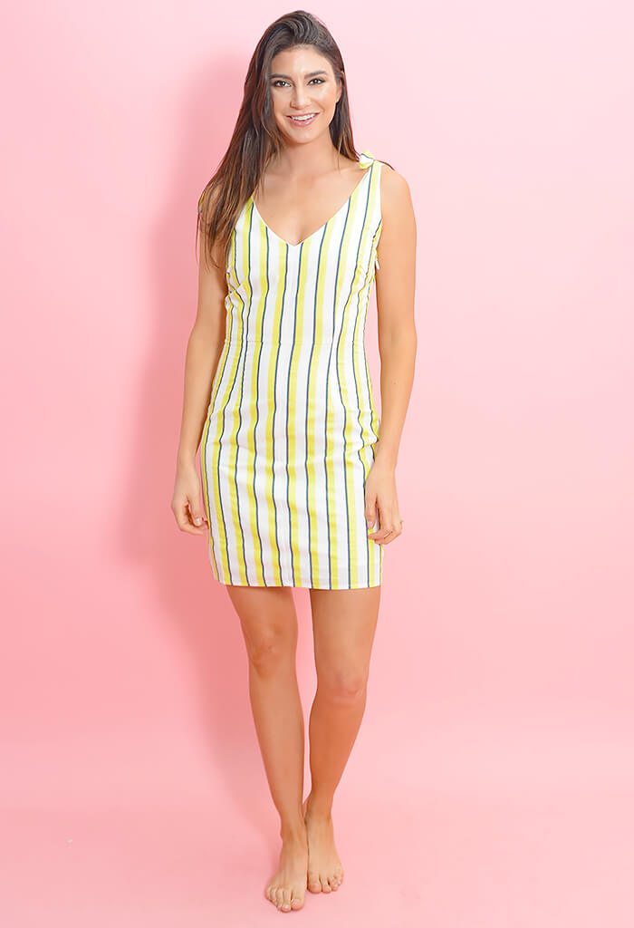 Marguerite Dress-Citron Yellow