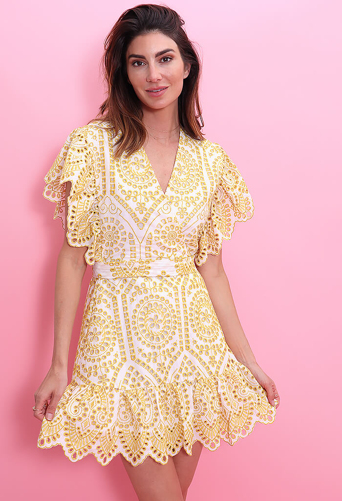 Minkpink Whilma Wrap Mini Dress