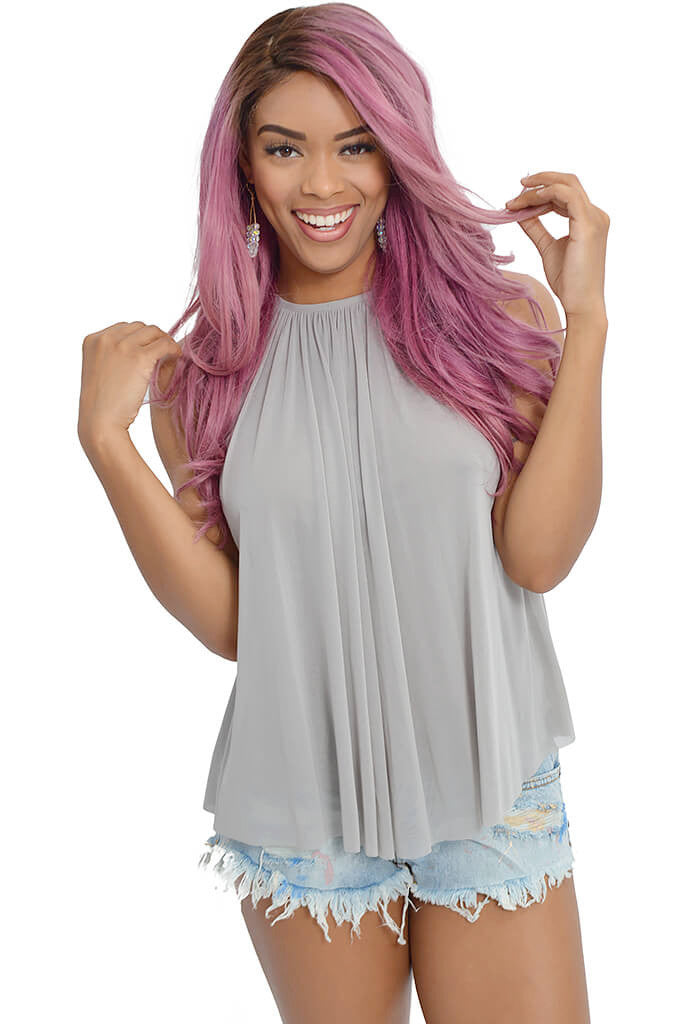 Pink Stitch Get Away Top-front