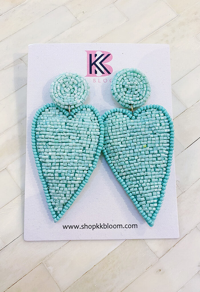 KK Bloom Harley Earrings-Turquoise