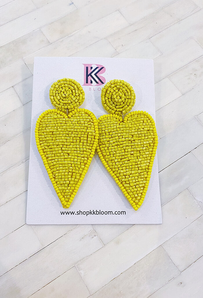 KK Bloom Harley Earrings-Yellow