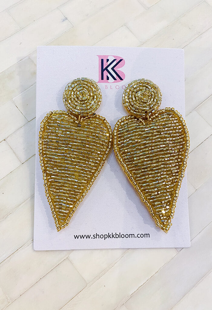 KK Bloom Harley Earrings-Gold