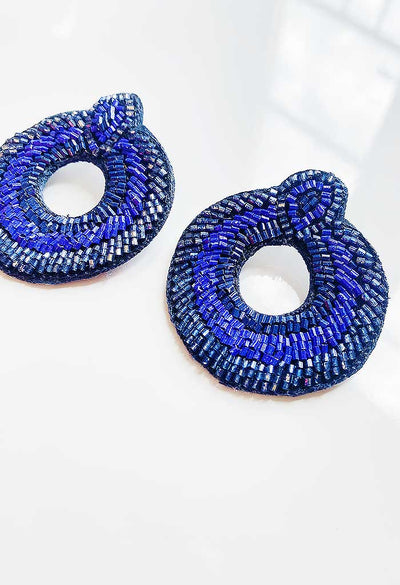 Indigo Moon Earrings