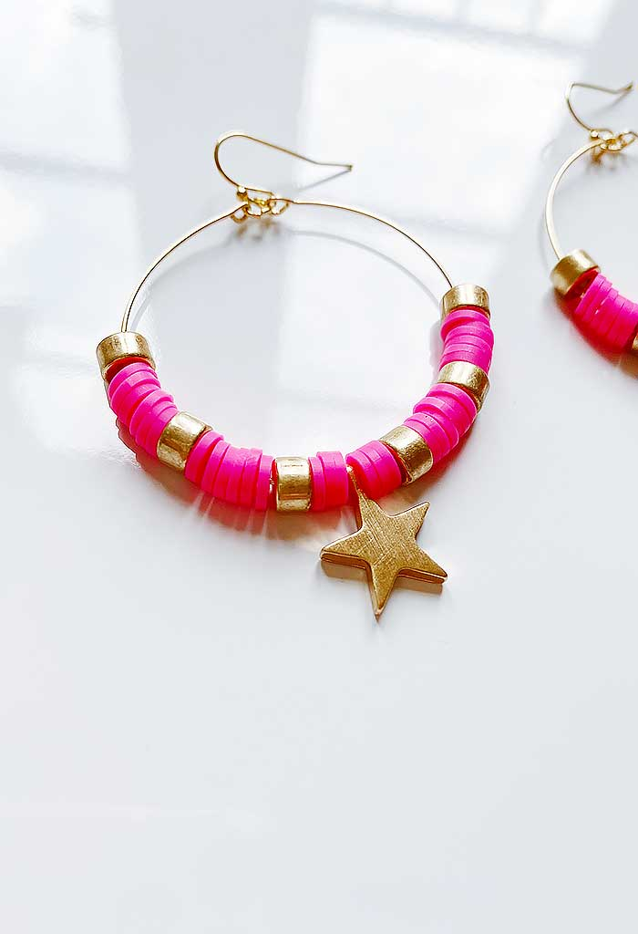 Charming Hoops-Pink