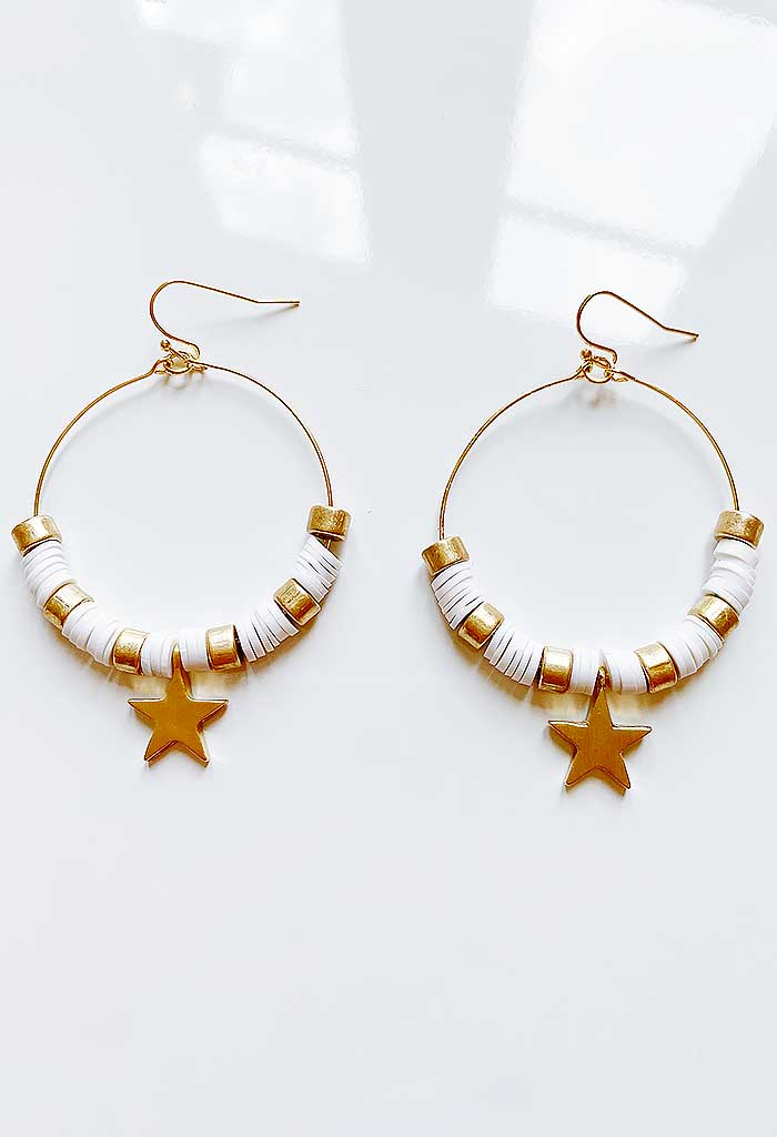 Charming Hoops-White