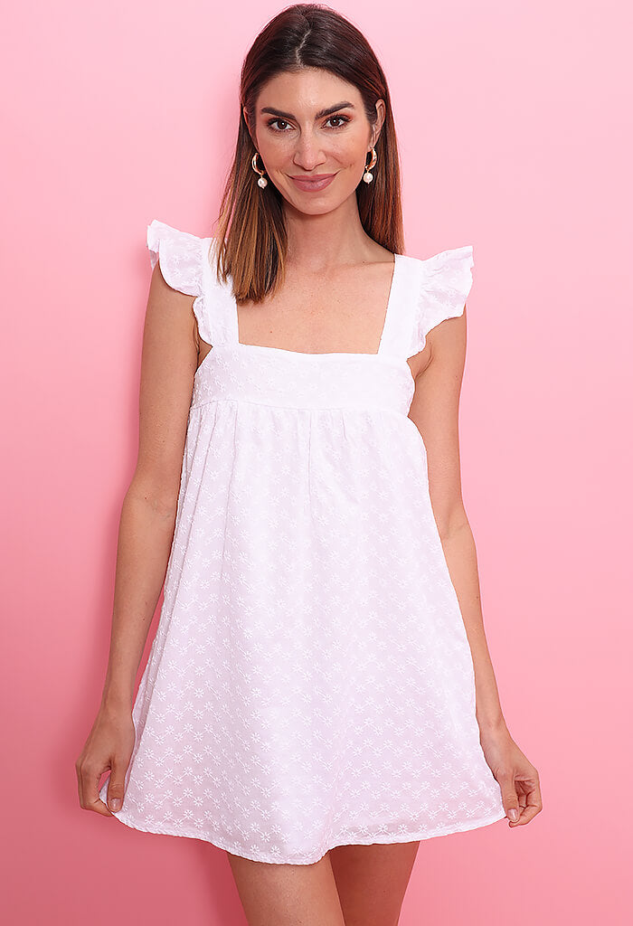 BB Dakota On The Square Dress-White