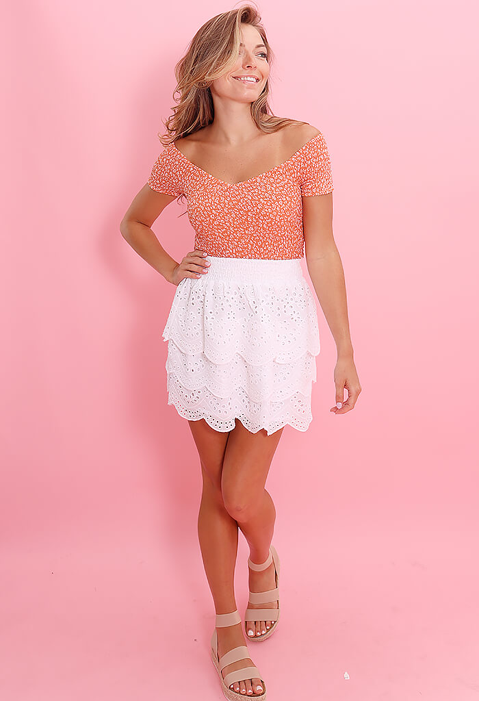 BB Dakota Lost In Your Eyelet Skirt