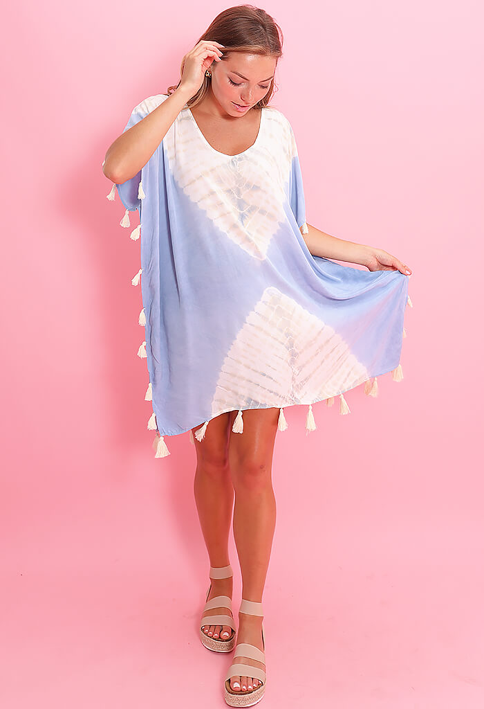 Vintage Havana Sun Bleach Coverup-French Blue
