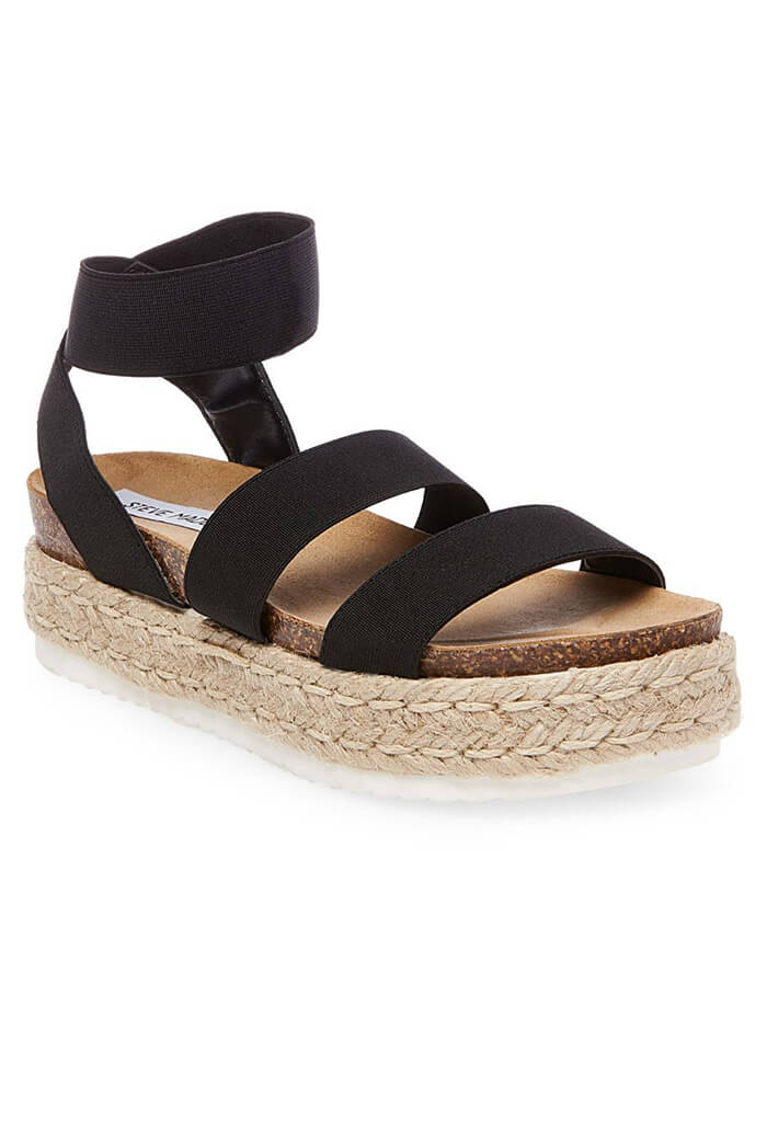 Kimmie Black Sandal Wedge