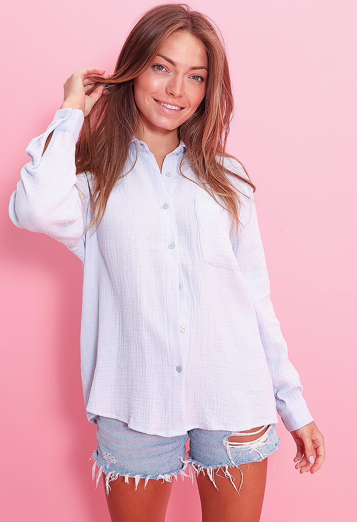 Elan Seaglass Blouse-Blue